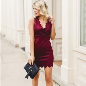 NWOT! Front row royalty dress in wine